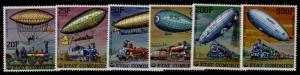 Comoro Islands 247-52 MNH Airships, Locomotives
