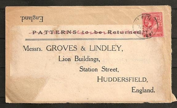 ANTIGUA 1927 front with GV 1½d - scarce ST PETER village cds...............