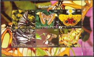Djibouti 2011 Butterflies MNH Cinderella !