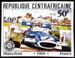 Antique Car, Matra-Ford, 1969, Central African Republic stamp SC#472 MNH