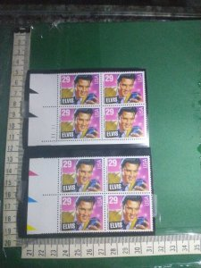 29 cent USA Elvis Presley mint condition four block