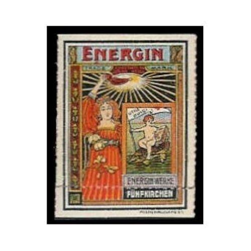 ENERGIN - Chocolate Oil Advertising Poster Stamp