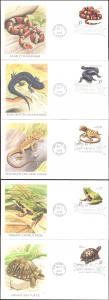 #3814-18 Reptiles and Amphibians Fleetwood FDC Set