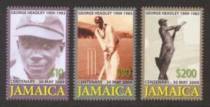 Jamaica Sc# 1088-90 MNH George Headley Centenary