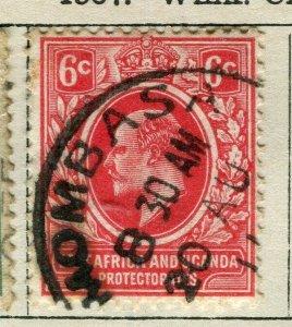 BRITISH KUT; 1907 early Ed VII issue fine used 6c. value