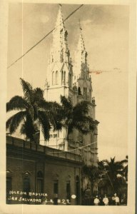 Bargains Galore Salvador photo postcard to England c1928
