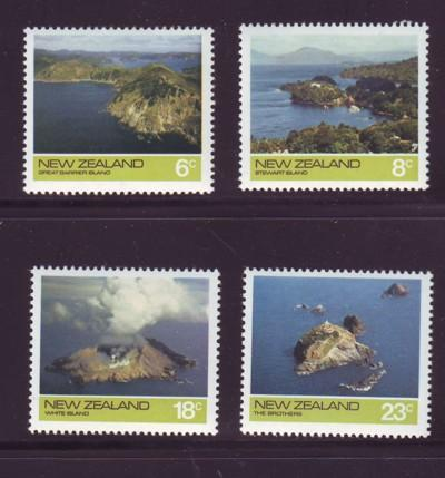 New Zealand Sc 563-6 1974 Offshore Islands stamps NH
