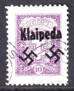 LITHUANIA 313 WW2 KLAIPEDA OVERPRINT CDS XF SOUND