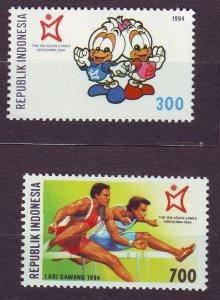 J22811 JLstamps 1994 indonesia set mnh #1589-90 sports
