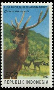 Indonesia 1997 Sc 1737d Deer Javan rusa