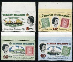 VIRGIN ISLANDS Queen Elizabeth II 1966 Stamp Centenary Set SG 203 to SG 206 MNH