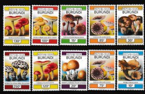 Burundi - MUSHROOMS - Set - MNH