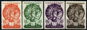 HERRICKSTAMP RUSSIA Sc.# 569-72 Silver Plate Persian Art LH Stamps