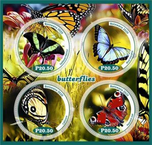 Republic of Botswana stamps 2020. - Set of insect butterflies from 8 blocks MNH