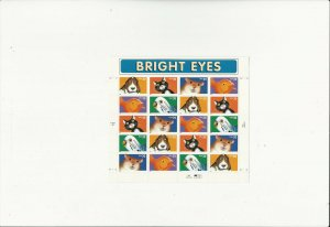 US Stamps/Postage/Sheets Sc #3234a Bright Eyes MNH F-VF OG FV 6.40