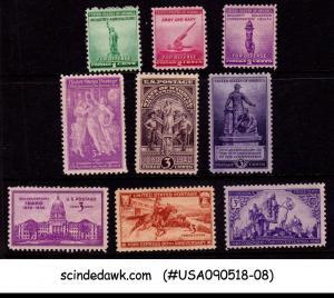 UNITED STATES USA - 1940 COMMEMORATIVE SCOTT#894-902 - 9V - MINT NH