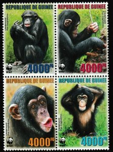 Guinea MNH Block Of Chimpanzees 2006
