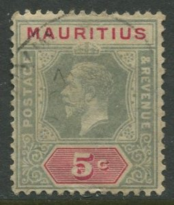 STAMP STATION PERTH Mauritius #152 KGV Definitive Used CV$5.00
