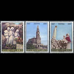 Vatican City MNH 455-7 Fatima 1967