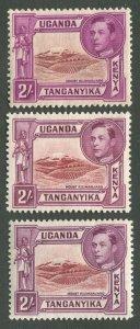 KENYA, UGANDA, & TANZANIA #81, 81a, 81b MINT
