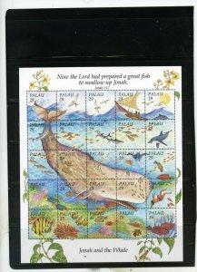 PALAU 1993 MARINE LIFE/WHALES SHEET OF 25 STAMPS MNH