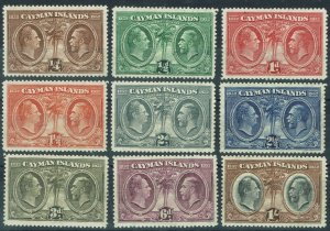 CAYMAN ISLANDS 1932 100TH ANNIVERSARY 1/4D TO 1/-