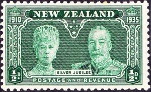 NEW ZEALAND 1935 KGV ½d Green, Silver Jubilee SG573 MH
