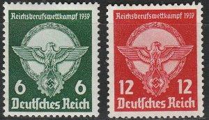 Stamp Germany Mi 689-90 Sc 490-1 1939 WWII 3rd Reich Emblem Eagle MNG