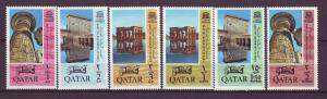 J20875 Jlstamps 1965 qatar set mnh #47-52 designs