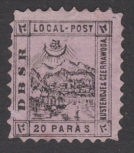 TURKEY 1867 DBSR Local Post - an old forgery................................A761