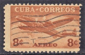 CUBA SC# C75  **USED** 1953  8c    AIRMAIL  SEE SCAN