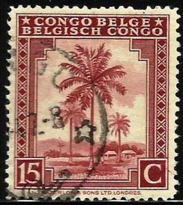 Belgian Congo 1942 Scott# 189 Used