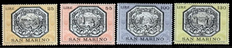 San Marino 773-6 MNH Art, Paintings, Animals