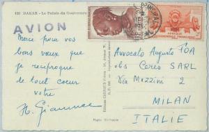 77375 - SENEGAL - POSTAL HISTORY - POSTCARD to ITALY  1953