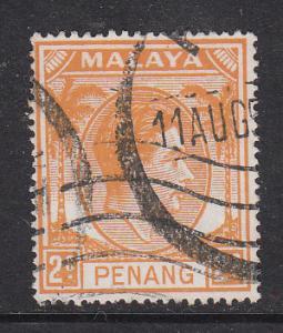 Malaya Penang 1949 Sc 4 KGVI 2c Used