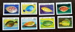 Vietnam Flat Fish 1982 Marine Life Ocean Underwater (stamp) MNH *imperf *c scan