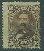 US Hawaii SC#35 King Kalakaua 2c, Used