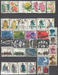 COLLECTION LOT OF #1086 GREAT BRITAIN 66 STAMPS 1966+ CLEARANCE 2 SCAN