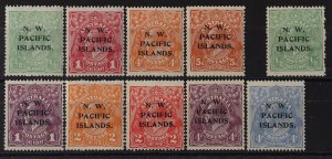 NEW GUINEA - NWPI 1918 KGV complete ½d-5d.