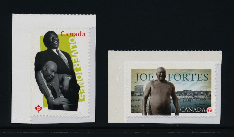 Canada 2619-20 MNH Oliver Jones, Music, Joe Fortes, Black History Month