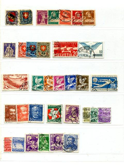 Switzerland Collection on 9 pages mostly used