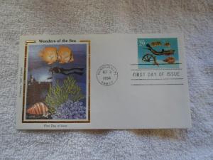 1994 US FDC COLORANO SILK CACHET WONDERS OF THE SEA ( no. 2)