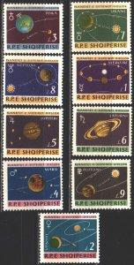 Albania. 1964. 892-900. Planets, space. MVLH.