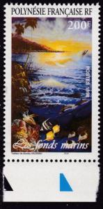 French Polynesia 1998 Painting 'Underwater World of Polynesia'  VF/NH