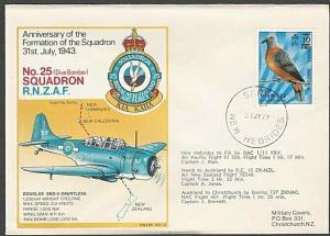 NEW HEBRIDES 1977 RNZAF commem flight cover - SANTO skeleton cds...........27804