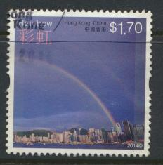 Hong Kong 1856 Used / Fine Used    Weather  Rainbow - 2014 issue