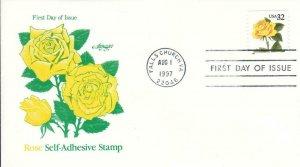1997, Rose Self-Adhesive Stamp, Artmaster, FDC (D13523)