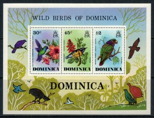 Dominica #491a* NH  CV $7.00  Birds Souvenir sheet
