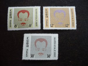 Stamps- Cuba- Scott# C219-C221 -Mint Hinged Set of 3 Stamps - French Background