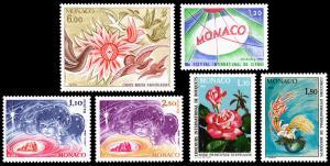 Monaco Scott 1248, 1249, 1250-1251, 1252-1253 (1980) Mint NH VF B